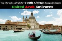 Italy Visa for South Africa