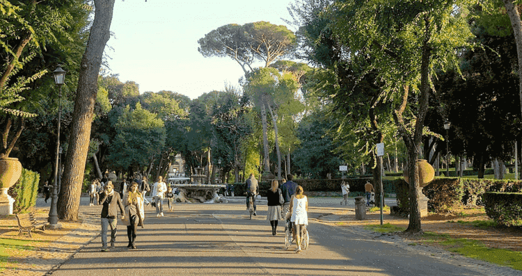 Villa Borghese park in Rome