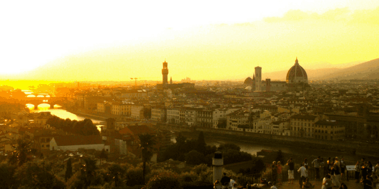 Sunset from the top of Piazzale Michelangelo