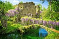 Ninfa romantic gardens, Italy