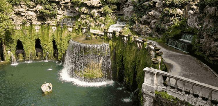 Villa d'Este gardens and fountains in Tivoli