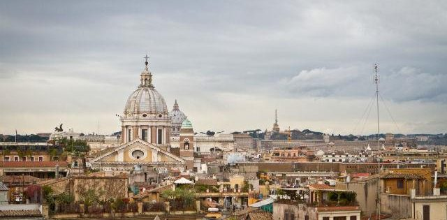 A view of Rome from Piazza