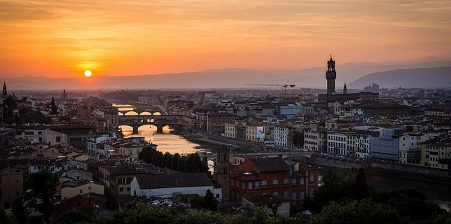Sunset in the Florence